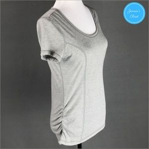 Athletic Works Tops - Athletic Works Grey Side Ruched Workout Tee M 8-10